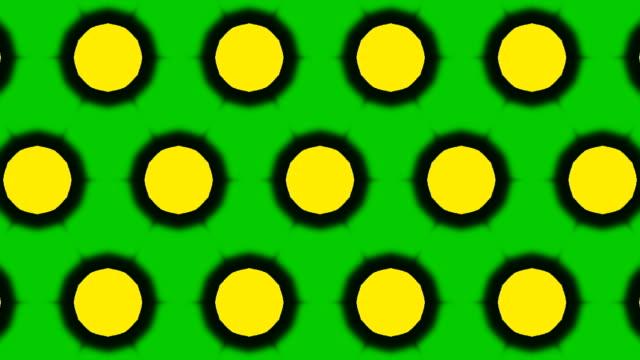 ornamental geometric caleidoscope circles moving pattern New quality universal motion dynamic animated colorful joyful dance music video footage loop video