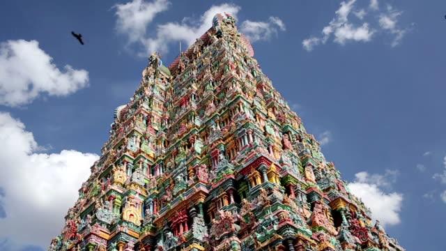 ornate facade of hindu temple - india statue bildbanksvideor och videomaterial från bakom kulisserna