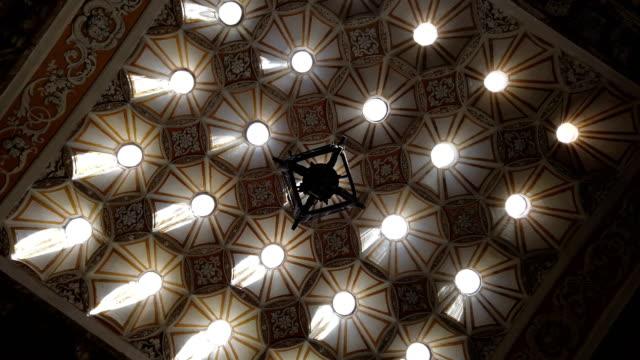 Ornate Turkish bath ceiling video
