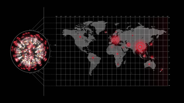 сoronavirus world map - rozkładać filmów i materiałów b-roll