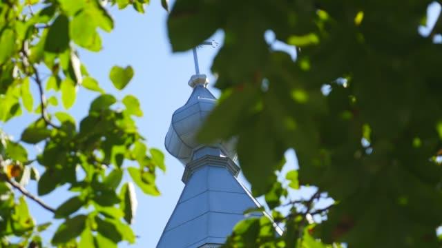 Orthodox church, Catholic church, dome of a church against a blue sky, Against the sky domes video