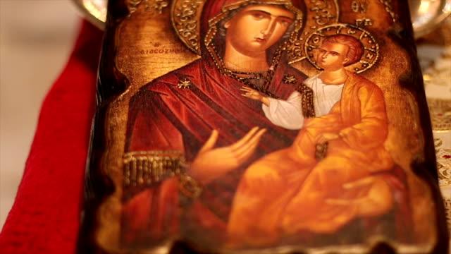 Orthodox church icon video