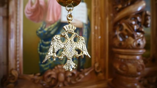 orthodox church interior - верующий стоковые видео и кадры b-roll