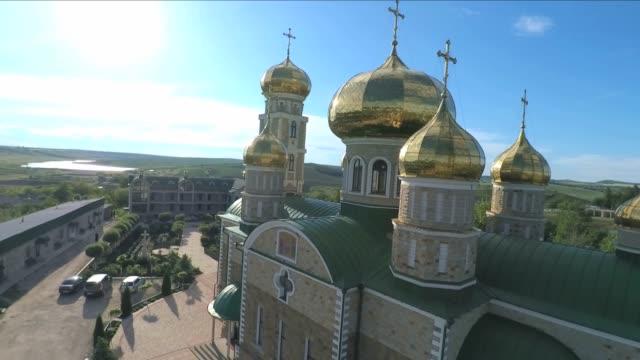 orthodox monestery - молдавия стоковые видео и кадры b-roll
