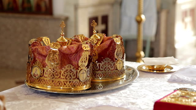 Orthodox Wedding Crowns wedding crowns are on the table k icon stock videos & royalty-free footage