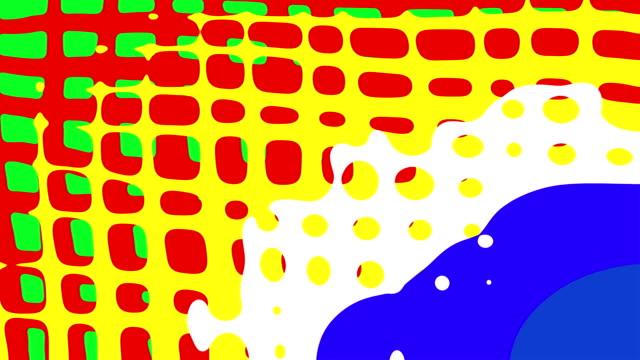 morphogenetic flusso: ortogonali-multicolore (loop) - pop art video stock e b–roll