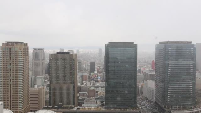 Osaka city from Umeda Sky building
