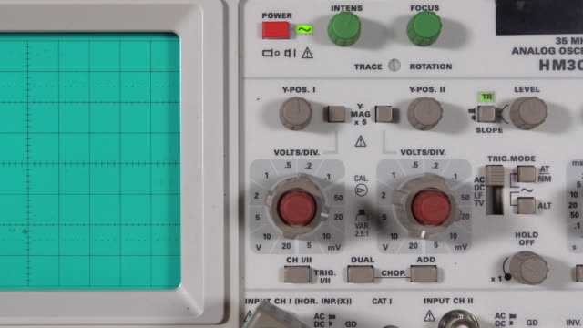 Oscilloscope Check the Signal Using an oscilloscope. high voltage sign stock videos & royalty-free footage