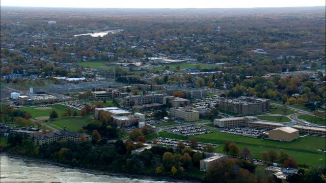 Oswego on lake Ontario - Aerial View - New York,  Oswego County,  United States video