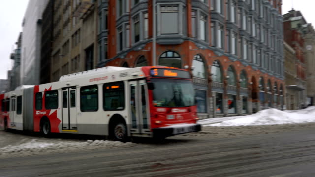 Ottawa Bus after Blizzard
