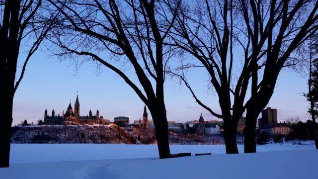 ottawa's spring is coming. - victorian architecture stock videos & royalty-free footage