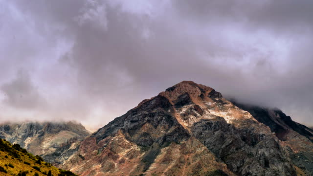 Сoud at a height of peak Sairam-Su, Tian-Shan, Kazahkstan video