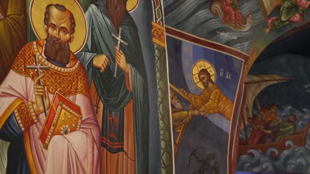 vår fru av hammatoura kloster - peter the apostle bildbanksvideor och videomaterial från bakom kulisserna