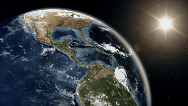 Our planet Earth view from space Beautiful sunrise over the planet Earth. Realistic 3D animation. More options in my portfolio time zone stock videos & royalty-free footage