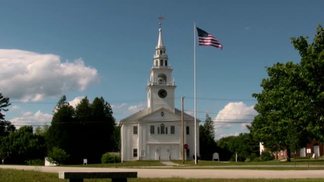 stockvideo's en b-roll-footage met our town church - kerk