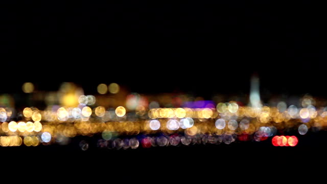 Out of Focus Las Vegas Strip Lights video