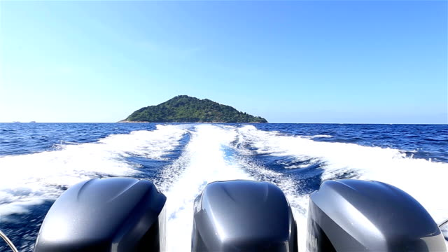 HD: Outboard engine Sailing in the sea video