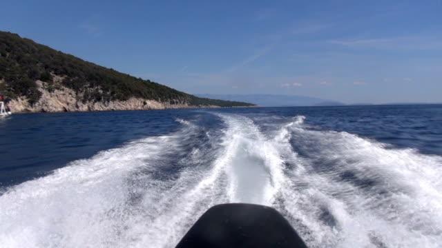 outboard speedboat croatia video