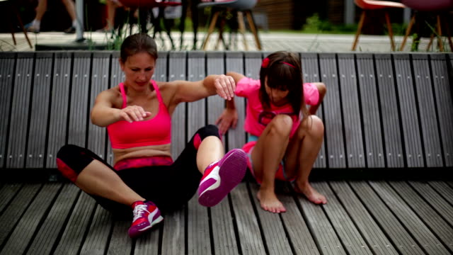 outdoor fitness and relax video