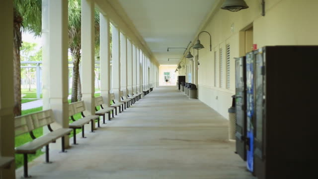 Outdoor Hallway at a School video