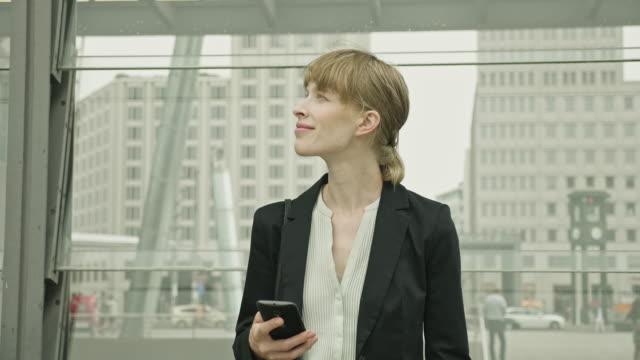 Outdoor mid adult Businesswoman in Downtown Berlin