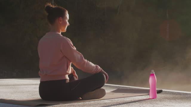 Outdoor morning yoga