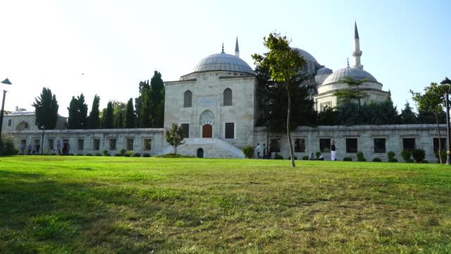outdoor of Suleymaniye mosque in Istanbul, Turkey video