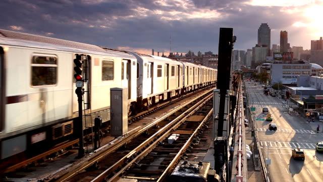 Outdoor Subway Cityscape in Queens video