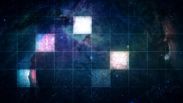 Outer Space Glowing Square Grid video