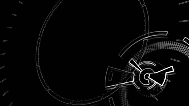 Outlined video background component. Abstract round animation. video