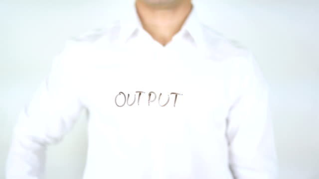 Output, Man Writing on Glass video