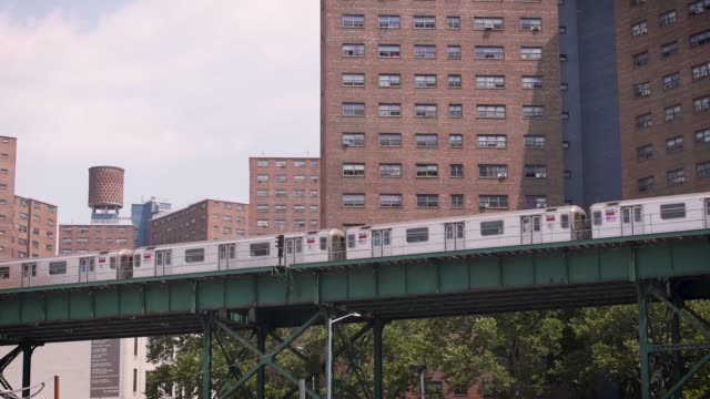 Outside shot of 1 Train Subway in NYC