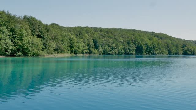 Outstanding Boat View On Plitvice Lakes, Croatia National Park, video