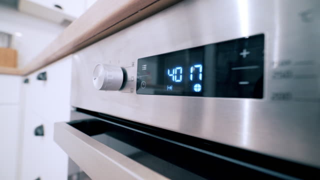 Oven. Oven close up. timer stock videos & royalty-free footage