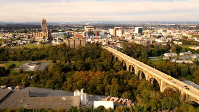 über downtown city center allentown, pennsylvania - pennsylvania stock-videos und b-roll-filmmaterial