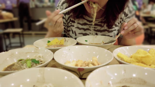 over eating - thai food stock videos and b-roll footage