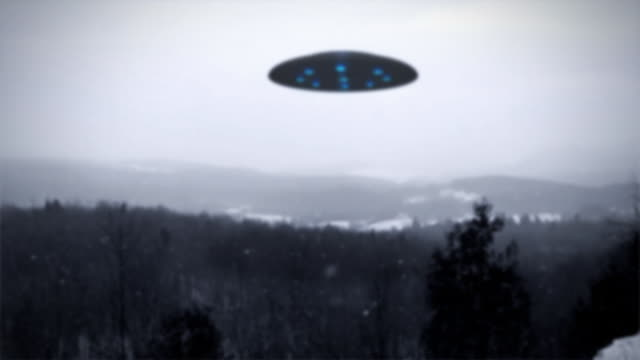 UFO over forest video
