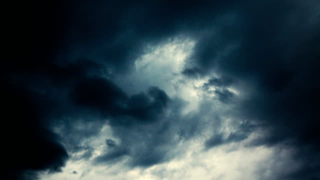 over head shot of rain cloud come - pesante video stock e b–roll