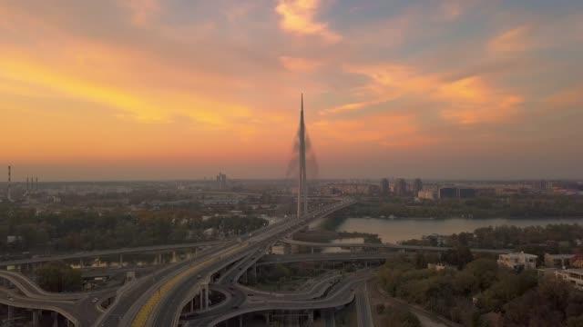vídeos de stock, filmes e b-roll de sobre a ponte - sérvia