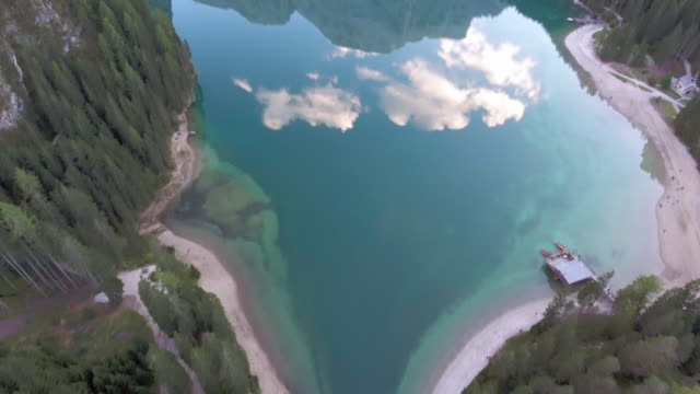 Over the lake with cloud reflection video