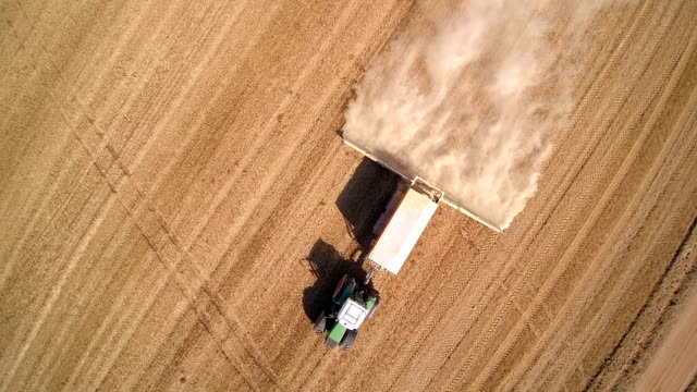 Over the top view of the agriliming truck video