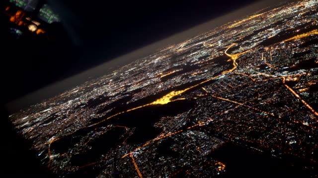 夜間飛越約翰尼斯堡 - 航拍 個影片檔及 b 捲影像