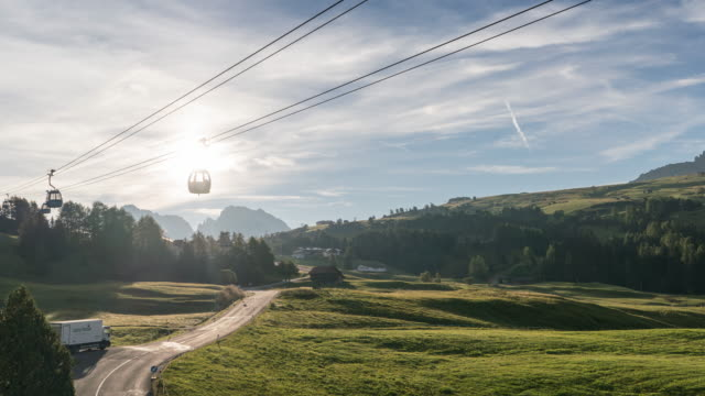 Overhead cable car Time Lapse Overhead cable car Time Lapse aegean islands stock videos & royalty-free footage