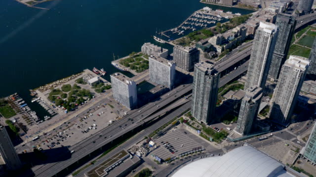Overhead of Lakeshore Boulevard and the Gardiner Expressway in Toronto 2 video