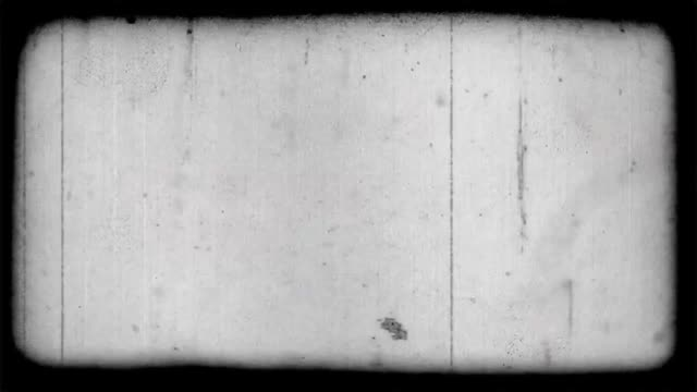 Overlay effect on frame imitation of old movie with fibers and grain on grey background