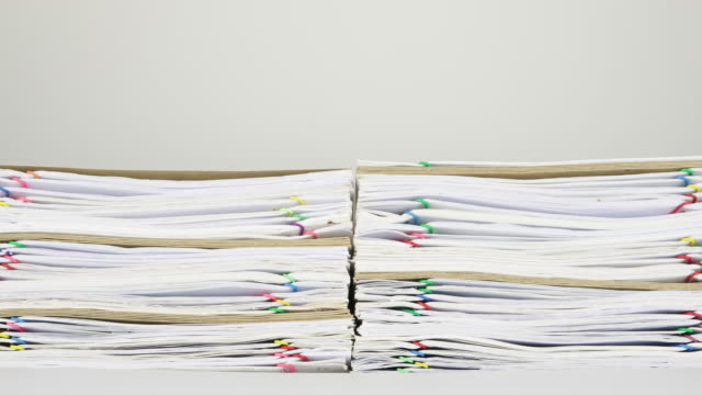 Overload document and envelope with white background time lapse video