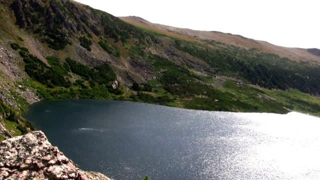 (Seamless Loop) Overlooking Seamless Loop Alpine Lake video