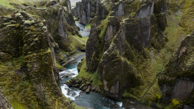 Overlooking the Fjadrargljufur canyon in Iceland