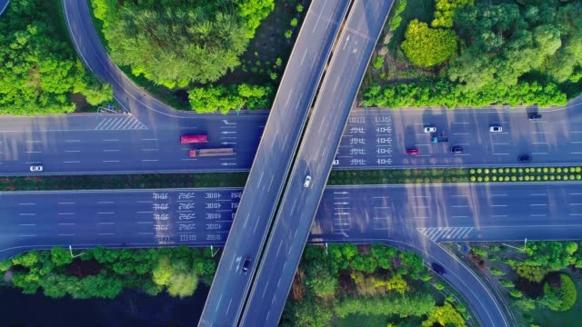 Overpass aerial view video