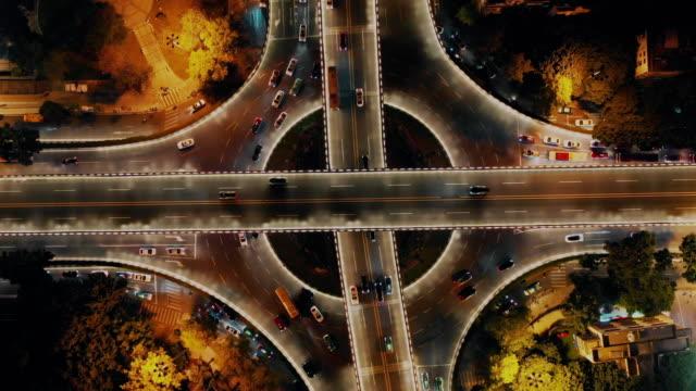 夜間の陸橋、広州、広東省、中国 - 中国 広州市点の映像素材/bロール